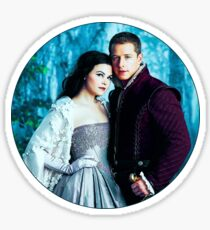 Snow and Charming Comic Poster Logoless Design Sticker