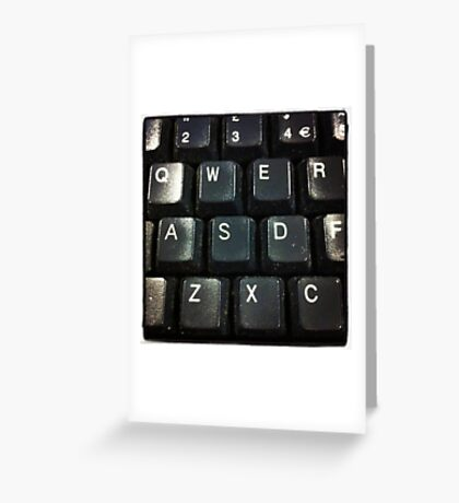 Qwerty Greeting Card