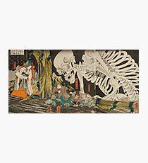 Japanese skeleton Photographic Print