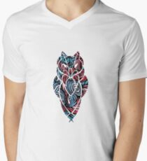 Owl Mosaic Sky Blue / Red T-Shirt