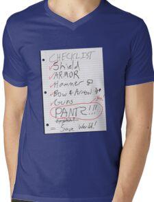 Alien Invasion Checklist Mens V-Neck T-Shirt