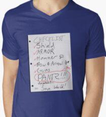 Alien Invasion Checklist Men's V-Neck T-Shirt