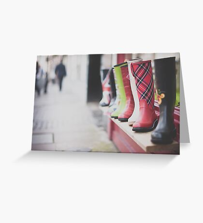 Boots and bokeh Greeting Card