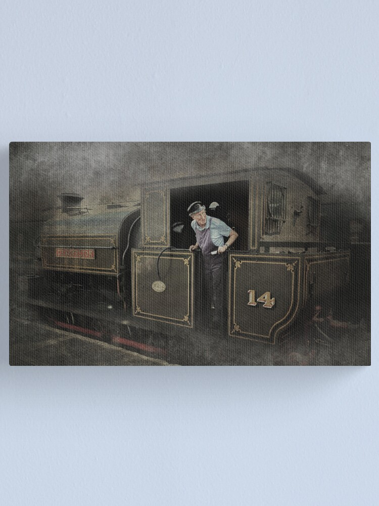 Alternate view of Steaming Thru  Canvas Print
