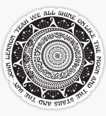 Yeah We All Shine On John Lennon Quote Art Sticker