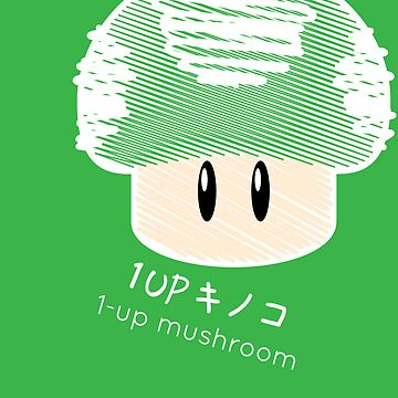 1-UP mushroom -scribble- by cucupan