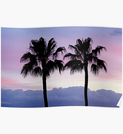 Purple sunset in Los Gigantes Poster