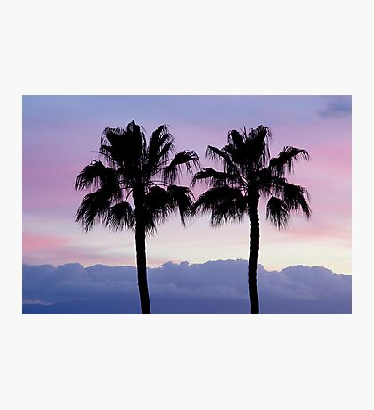 Purple sunset in Los Gigantes Photographic Print