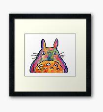 Cute Colorful Totoro! Tshirts + more! Jonny2may Framed Print