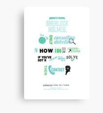Sherlock Holmes - Consulting Detective Metal Print