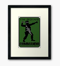 Going Commando Framed Print