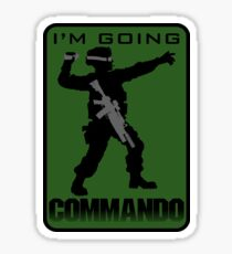 Going Commando Sticker