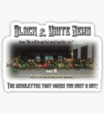 The Black & White Last Supper Sticker
