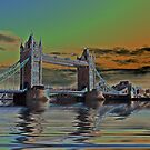Solarised Tower Bridge by shalisa