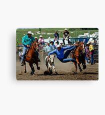Rodeo Star Steer Wrestling Canvas Print