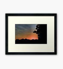 Sunset at Pecan Grove Park Framed Print
