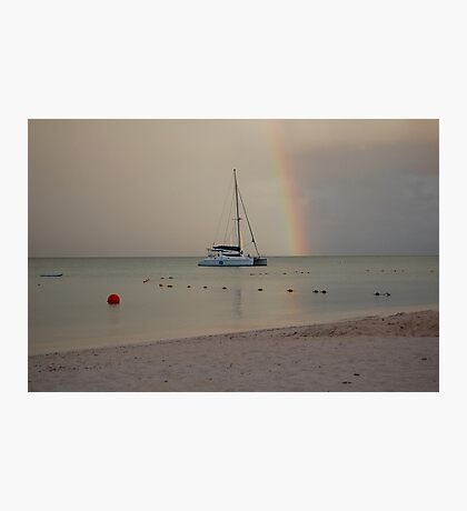 Over the Rainbow She Floats  Photographic Print