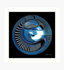 CARZ-Abstract/TEN Art Print
