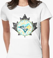 BLUE JAYS WHITE Womens Fitted T-Shirt