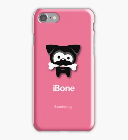 Black Pug iBone iPhone and iPod Cases (Pink) iPhone Case/Skin