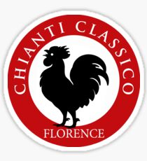 Black Rooster Florence Chianti Classico  Sticker