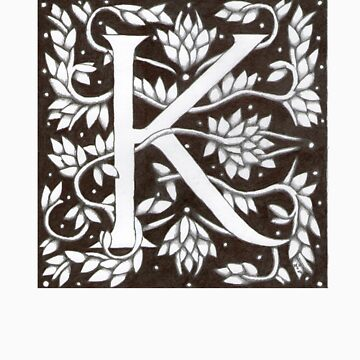 William Morris Letter K Sticker by Donnahuntriss
