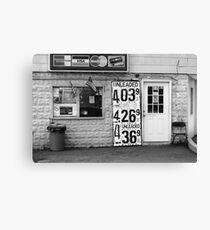 Congers, New York - Gas Station Canvas Print