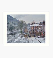 Winter in England Art Print