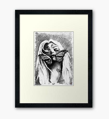 Silent deception Framed Print