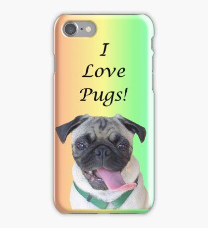 Cute I Love Pugs iPhone, iPod or iPad Case iPhone Case/Skin
