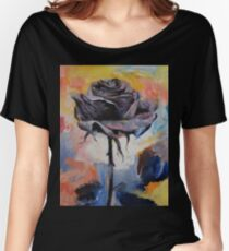 Black Rose Women's Relaxed Fit T-Shirt