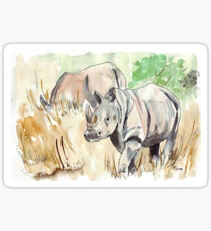 Two White Rhinos Sticker