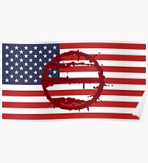Hotline Miami: 50 Blessings On US Flag Poster