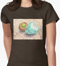 robin's egg with acorn cap Womens Fitted T-Shirt