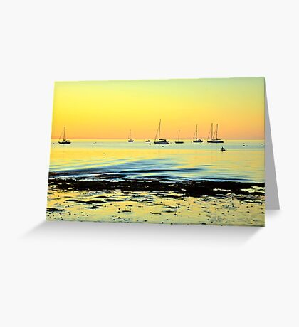 A Golden Glow Greeting Card