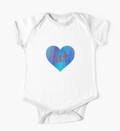 Love Fat (Blue and Red) Kids Clothes