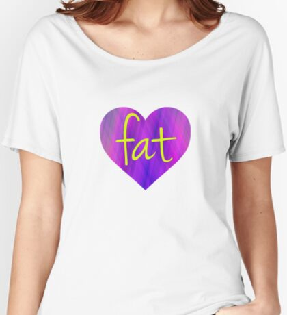 Love Fat (Purple and Yellow) Women's Relaxed Fit T-Shirt