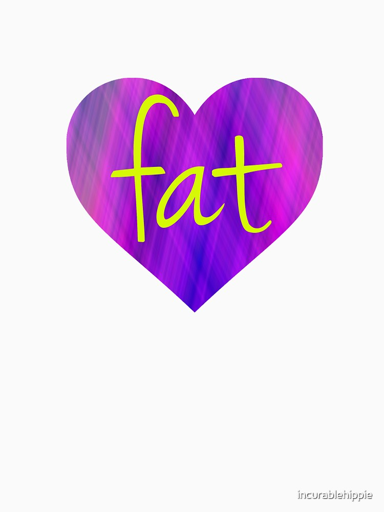 Love Fat (Purple and Yellow) by incurablehippie