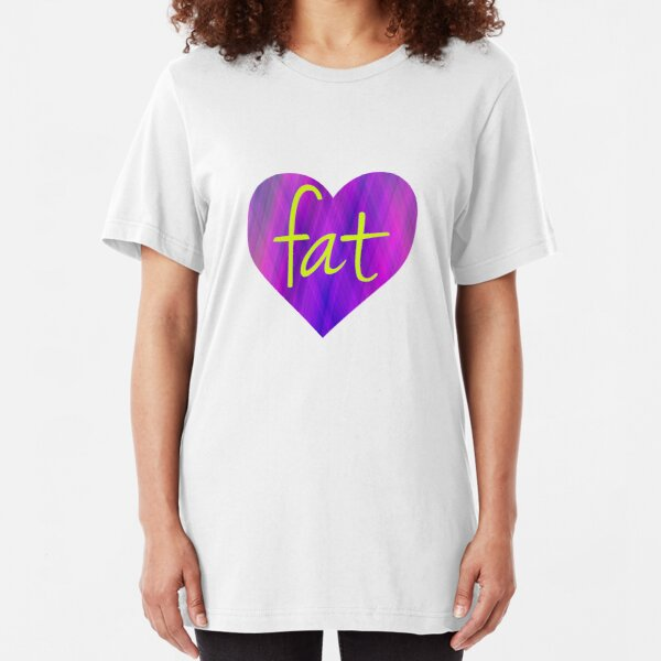 Love Fat (Purple and Yellow) Slim Fit T-Shirt