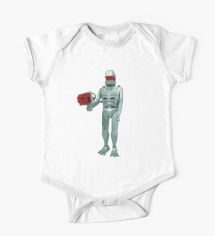 ROM the space knight - retro Action Man (or GI Joe) toy 8-bit style Kids Clothes