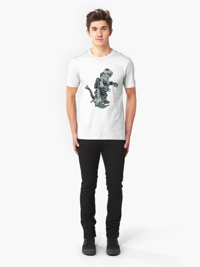 Alternate view of Zoidzilla 8-bit style Slim Fit T-Shirt