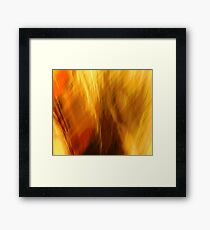Abtract of  Warm Colors Framed Print