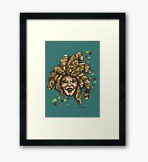 """wild me""in colours Framed Print"