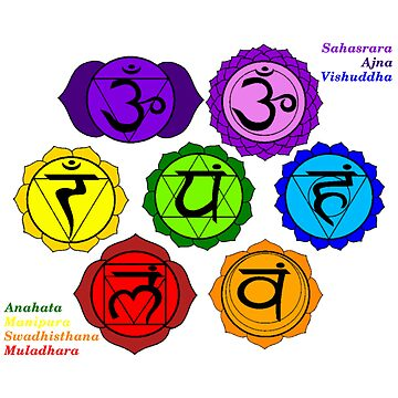 YOGA REIKI PLAIN SEVEN CHAKRA SYMBOLS LABELED TEMPLATE by ernestbolds