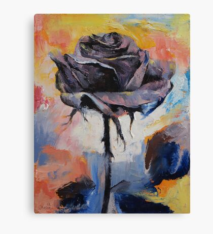 Black Rose Canvas Print