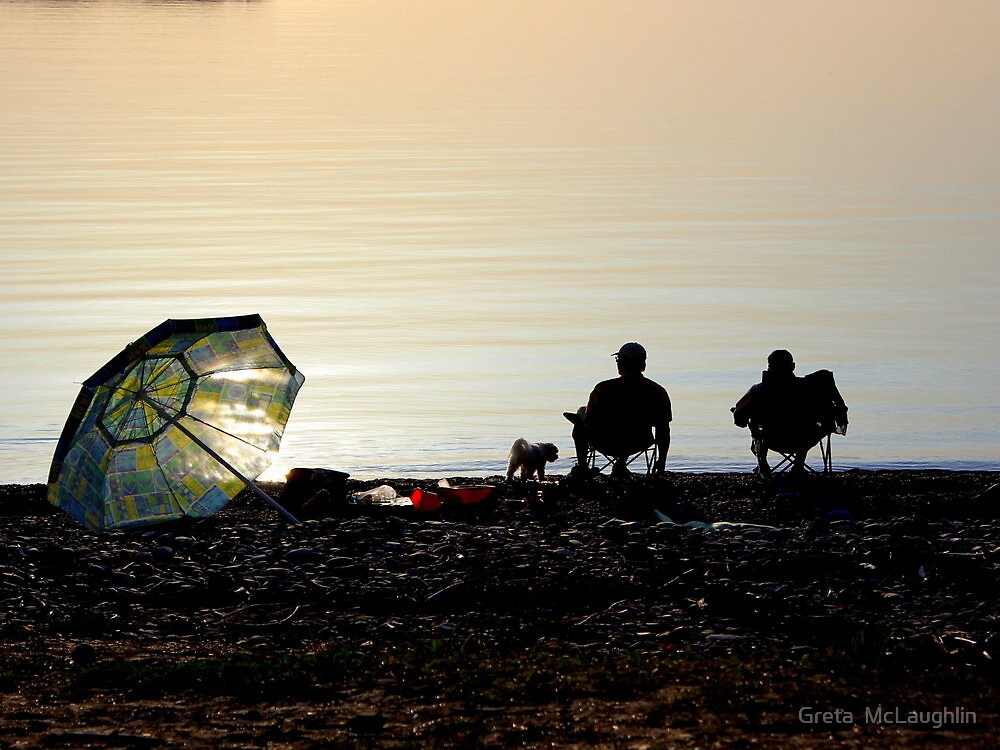Waiting for the sun to go down by Greta  McLaughlin