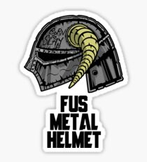 FUS METAL HELMET Sticker