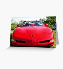 Red Corvette Edited Greeting Card