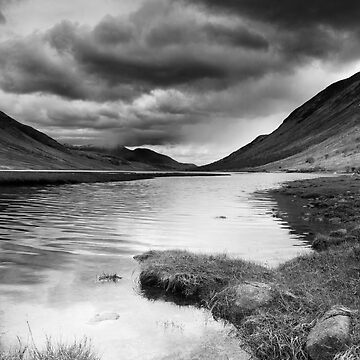 Loch Etive in Black and White by kernuak