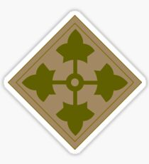 Fourth Infantry Division Insignia Sticker